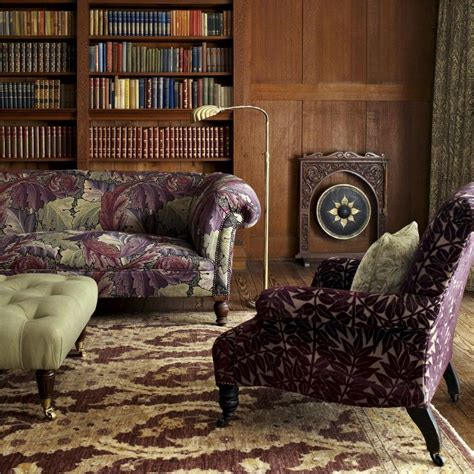 upholstery colorado william morris acanthus tapestry grape heather