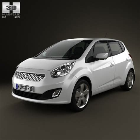 Kia 2011 Model Kia Venga 2011 With Hq Interior 3d Model Ready Max
