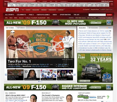 thoughts on the espn web site redesign smiley cat
