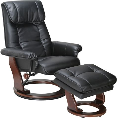 Recliner Chairs With Ottoman Dixon Black Reclining Chair Ottoman The Brick