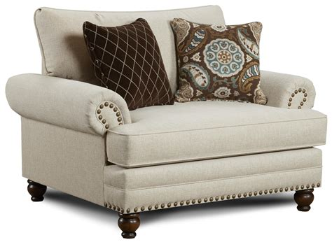 ottoman with nailhead trim nailhead sofa traditional style rustic rocker recliner w