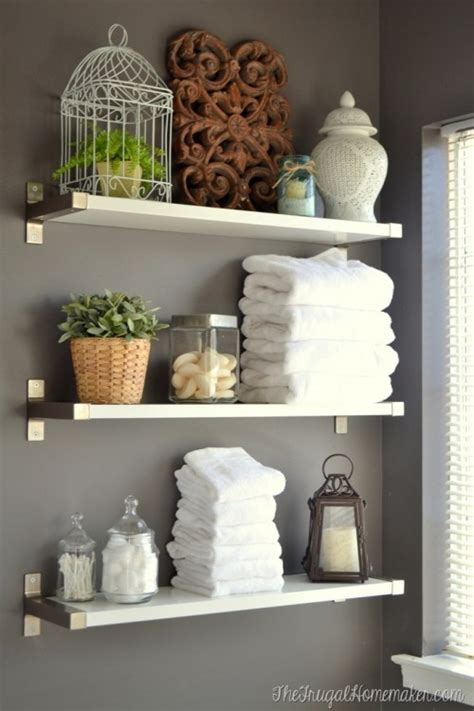 17 diy space saving bathroom shelves and storage ideas