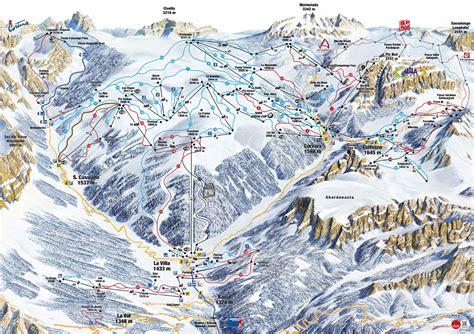 consel sella alta badia plan des pistes de ski alta badia