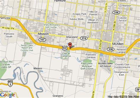 where is mcallen texas on the map map of inn express hotel suites mission mcallen mission