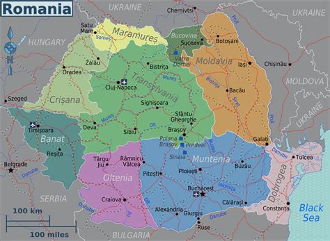 map of romania political map of romania romania political map vidiani maps of all countries in one place