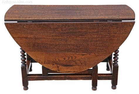 Drop Leaf Gateleg Dining Table Georgian Oak Gateleg Drop Leaf Dining Table 5 X 4 Antiques Atlas