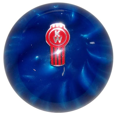 pearl blue kenworth shift knob