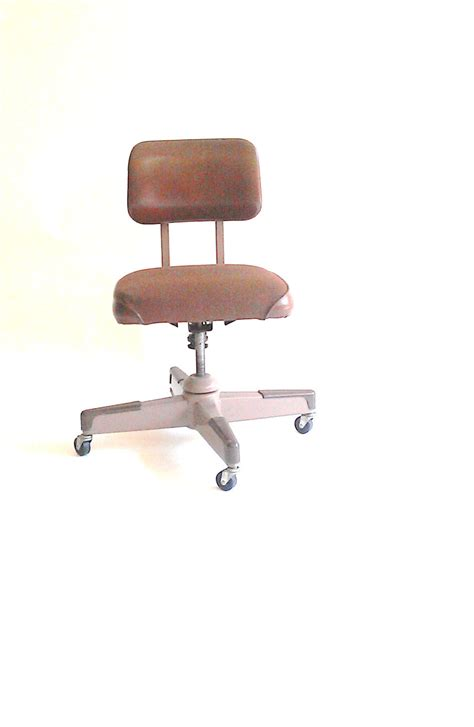 industrial steel desk chair rolling tanker chair by