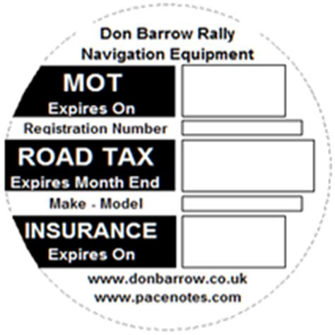 printable road tax disc don barrow free mot road tax insurance disc