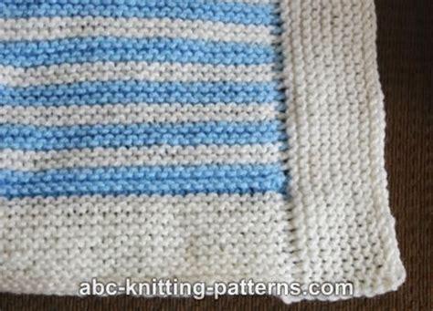 Garter Stitch Baby Blanket Pattern by Abc Knitting Patterns Easy Garter Stitch 4 Patch Baby