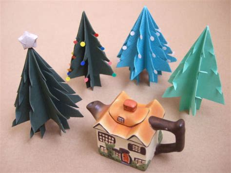 christmas tree paper folding fold cut a standing paper tree bloomize