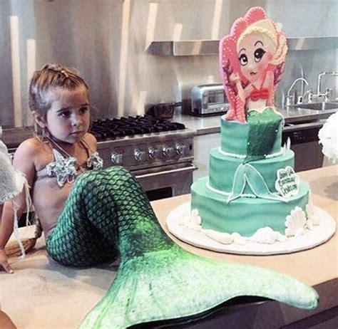 kim kardashian mermaid birthday inside kim kardashian s daughter s cute mermaid themed