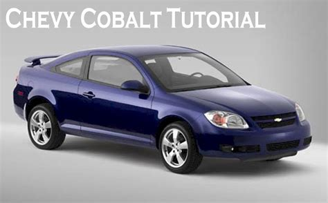 chevy cobalt dashboard removal tutorial