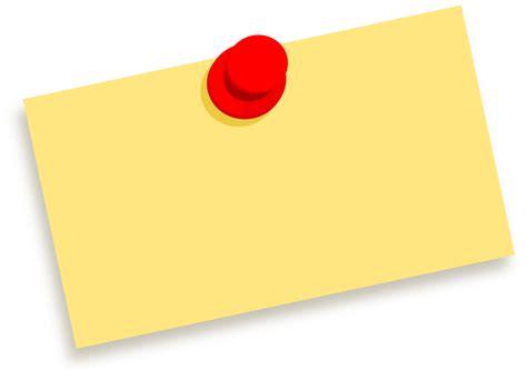 Clipart Thumbtack Note Blank Thumbtack Template