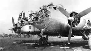 B-17 damaged by an anti-aircraft shell makes it home. : pics B 24 Ball Turret