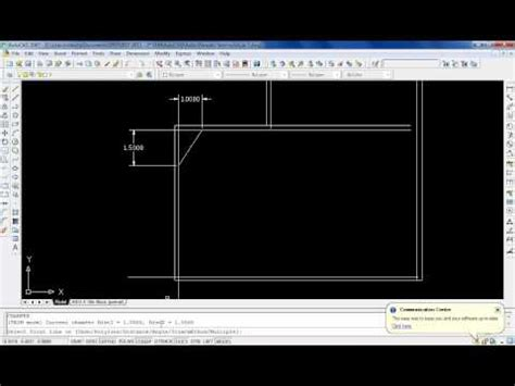 autocad tutorial in kannada chamfer