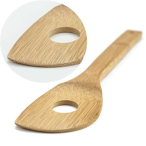 Safe Kitchen Utensils by Huji Bamboo Wooden Kitchen Cooking Utensils Gadget Set Of