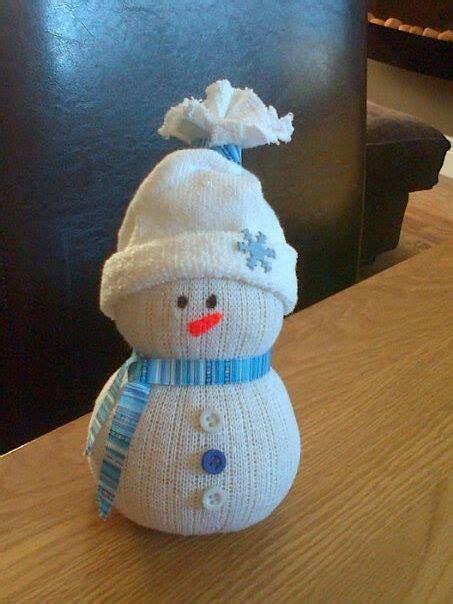 sock snowman here is a sock snowman made using white socks elastic