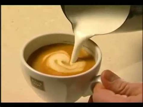 Milk Design On Coffee | how to do a coffee milk design youtube