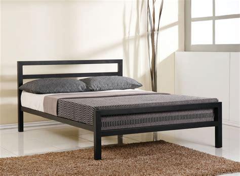 steel bed time living city block black metal bed frame