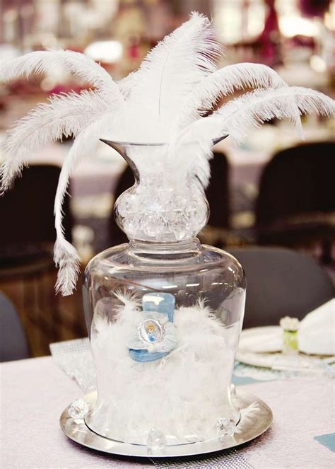 glass slipper centerpiece vintage shabby chic birthday ideas photo 3 of 29