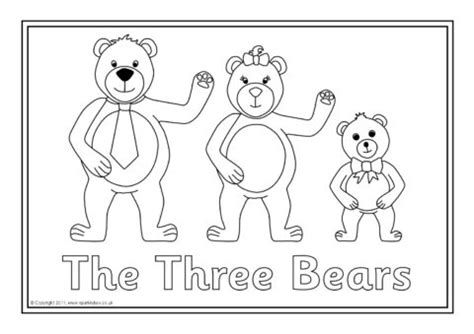 3 Bears Coloring Page by Goldilocks And The Three Bears Colouring Sheets Sb6137