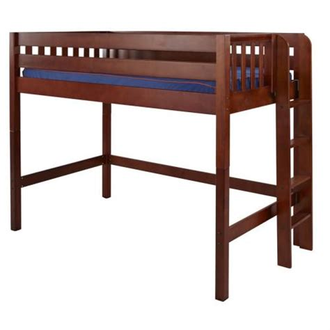 mid loft bed mack mid loft bed with side ladder in chestnut by maxtrix