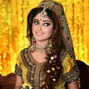 Pakistani wedding wear mehndi multi color dresses 2015 2016