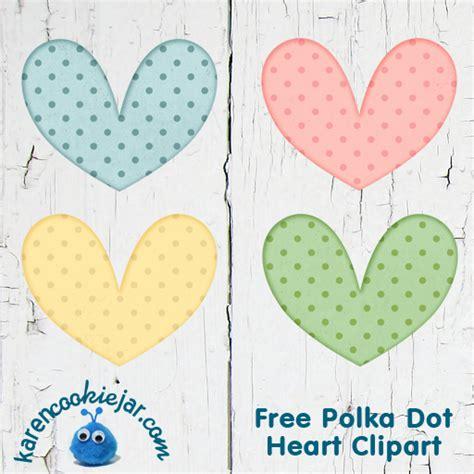 Free Polka Dot Heart Digital ClipArt   Karen Cookie Jar