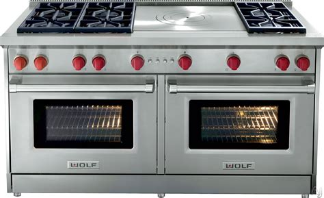 Wolf Range Knobs by Wolf Gr606flp 60 Quot Pro Style Gas Range With 6 Dual Stacked