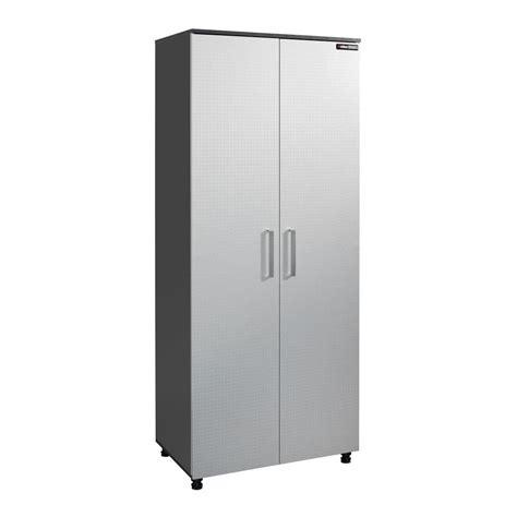 Black Storage Cabinet With Doors Black Decker 5 Shelf Laminate Storage Cabinet With Leg Levelers In Charcoal Stipple Bg104748k