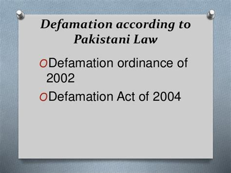defamation section defamation and copyright act