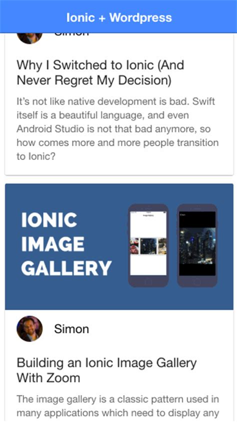 ionic api tutorial building your own ionic wordpress client with wp api