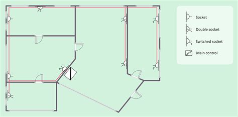 Architectural Symbols Floor Plan by House Electrical Plan Software Electrical Diagram