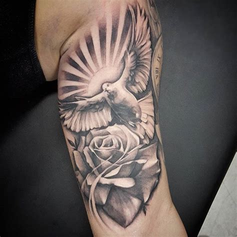 dove and rose tattoo meaning