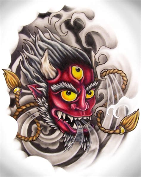oni mask tattoo meaning oni mask by zombilly on deviantart