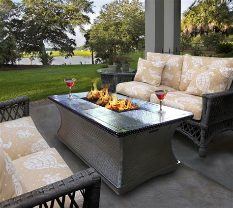 Patio Table Propane Pit Patio Furniture With Propane Pit Table Chicpeastudio