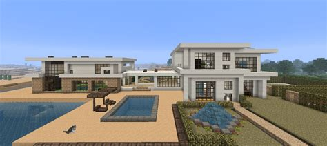 big modern house minecraft beach house large modern beach house minecraft