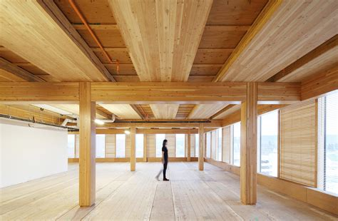 wood architecture wood building and self supported steel structure win