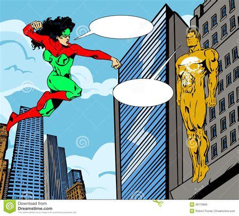 super heroine  villain stock illustration illustration