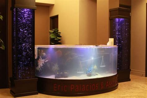 Fish Tank Reception Desk Shark Lawyer Office Tanked Unique Aquariums Planets To Work And Desks