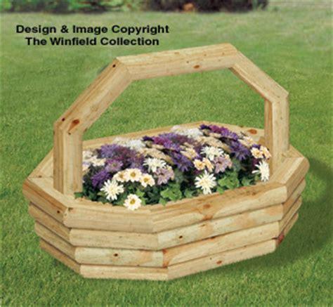 planter woodworking plans landscape timber oval basket
