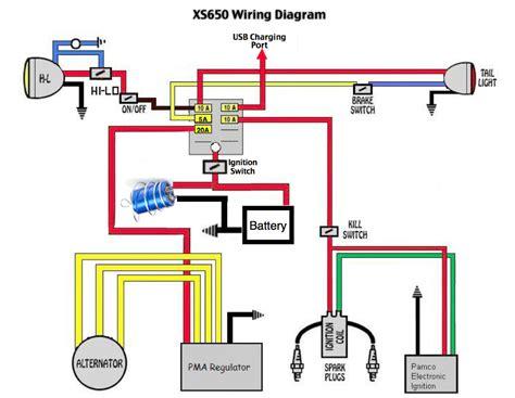 basic xs650 headlight wiring diagram wiring diagram manual