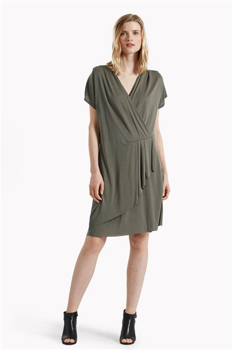v drape so peachy v neck drape dress dresses great plains