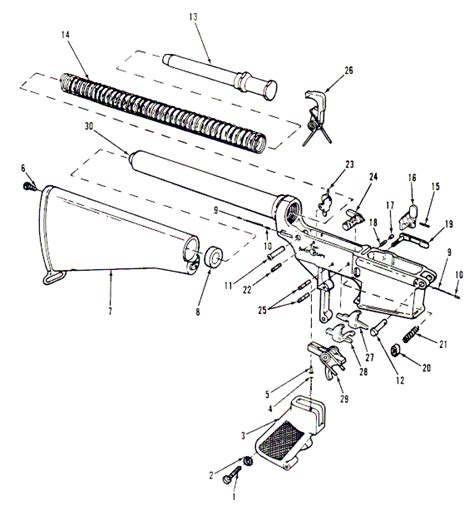 ar15 diagram ar 15 parts diagrams lower receiver and buttstock assembly