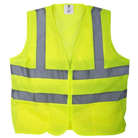 safety vest tr industrial large yellow mesh high visibility reflective class 2 safety vest tr88006