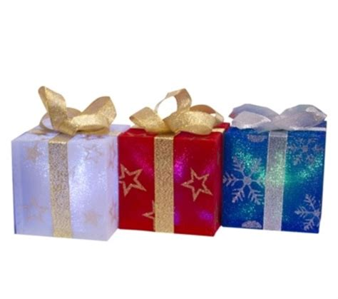 christmas light up gift box set of 4