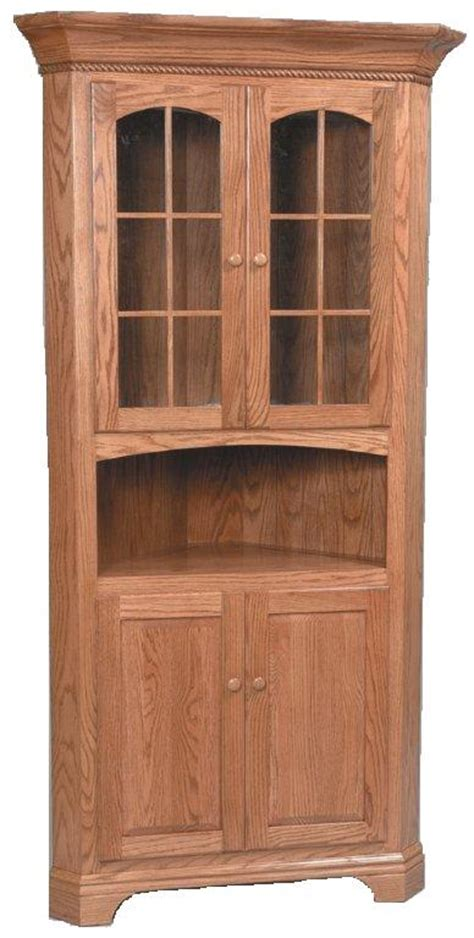 amish plymouth corner hutch deluxe corner hutch from dutchcrafters amish furniture