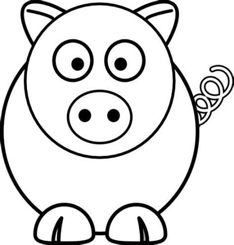 Easy Animal Coloring Pages simple animal drawings clipart best