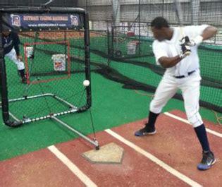 swing away softball swingaway pro stadium hitting training aid